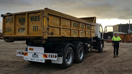 Skip Hire Truck in Point Cook